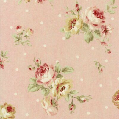 Cottage Shabby Chic Lecien Durham Quilt Roses Floral Fabric 31927L-20 Pink BTY