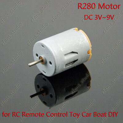Dc 3v9v Micro R280 Carbon Brush Dc Motor For Rc Remote Control Toy Car Boat Diy