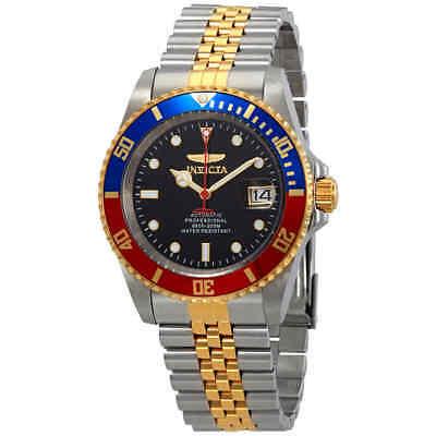 Invicta Pro Diver Automatic Black Dial Pepsi Bezel Men's Watch 29180