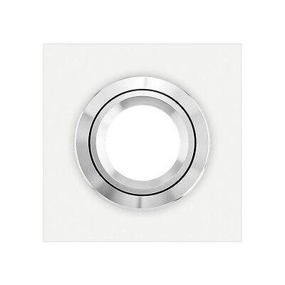 VIDRIO Einbaustrahler von LEDOX - 68mm Lochauschnitt Echtglas weiß eckig Rahmen ()