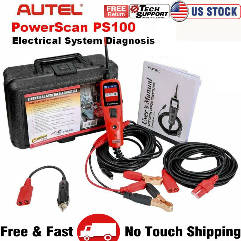 Circuit Tester Volt AVOmeter Power Probe Scan Autel PS100 Car Diagnostic Tool