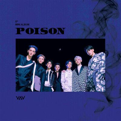 VAV [POISON] 5th Mini Album CD+Photo Book+Folded Poster(On)+Card K-POP SEALED