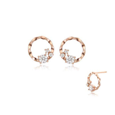 [STONE HENGE] Silver 925 Circular Cutting Earrings SC0945 with Case K-beauty