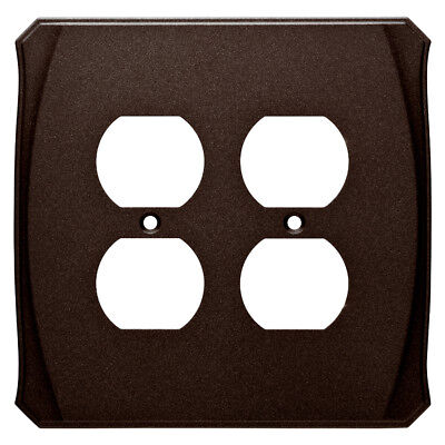 Contemporary Bronze Outlet (Bronze Double Outlet Wall Plate Brainerd W34478 )
