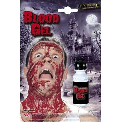 FLÜSSIGES BLUT # Halloween Kunstblut Wunde Blutgel Horror Schminke Make-Up 4098 ()