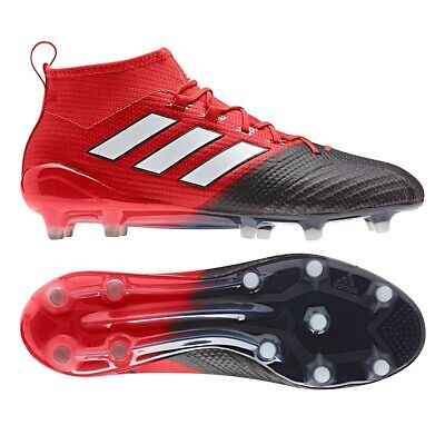 Adidas Ace 17.1 FG Primeknit Black/Red/White Adults/Mens Football Boots NEW!