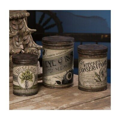 Bethany Lowe - Halloween - Witch's Conservatory Canister (Set of 3) - TF9143