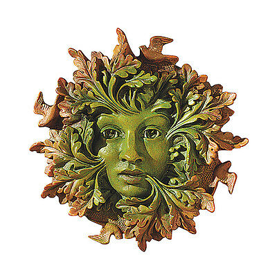 - Greenwoman Wall Sculpture Tree Leaf Face Somerset Mother Nature Statue