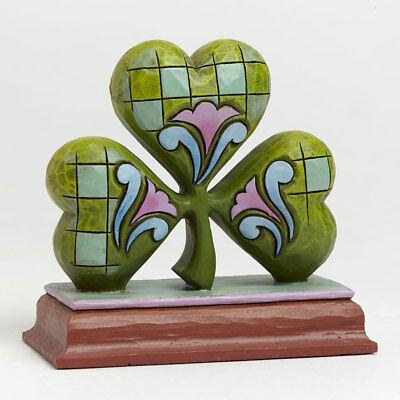 Jim Shore Miniature St. Patrick's Day Irish Lucky Shamrock Figurine ~ 4040540