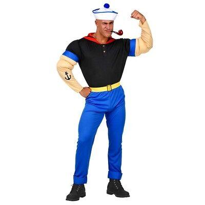 SUPER MATROSEN MUSKEL KOSTÜM Karneval Seemann Herren Party Marine Shirt Hut 0256