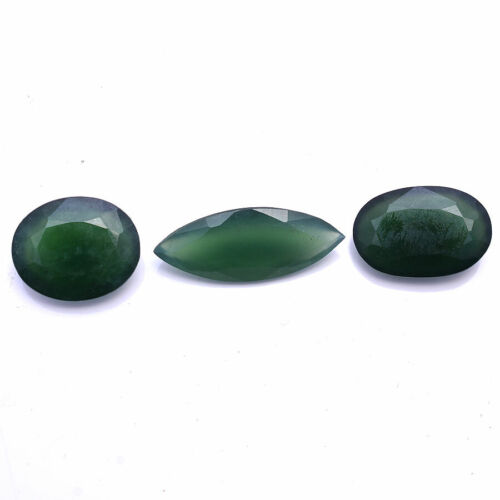 88.00 Cts Natural Serpentine Untreated Faceted Cut Huge Size Gemstones 25mm-38mm