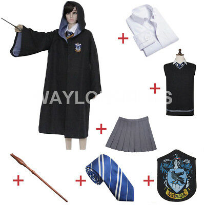 Ravenclaw Luna Lovegood Cosplay Robe Women Wizard Costume Halloween Party Outfit (Luna Costume)