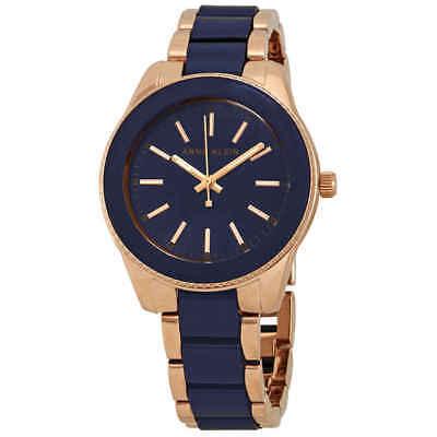Anne Klein Trend Blue Dial Ladies Watch AK/3214NVRG
