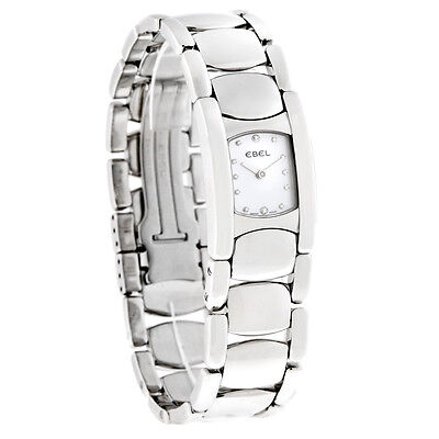 Ebel Beluga Manchette Ladies Diamond Swiss Quartz Watch 9057A21/9950