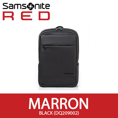 Samsonite RED 2018 MARRON Backpack M Laptop Tablet 14In Smart Sleeve EMS /Black