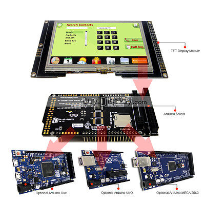 Serial Spi 4.3inch Tft Lcd Touch Shield For Arduino Duemega 2560uno Wlibrary