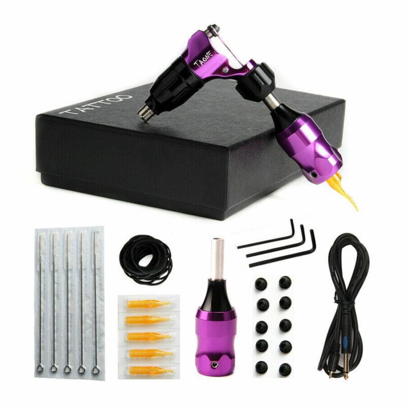 PRO Alu Rotary Tattoo Machines Kit Tattoo Motor Machine for Shader Liner Purple