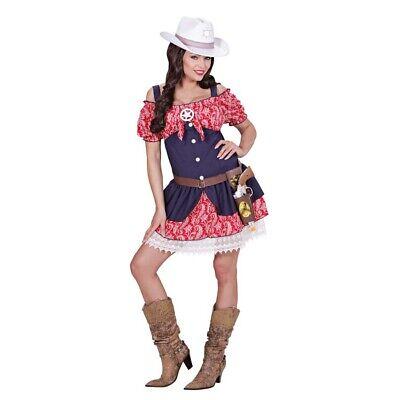 COWGIRL DAMEN KOSTÜM Karneval Fasching Cowboy Wilder Western Sheriff Kleid 0630