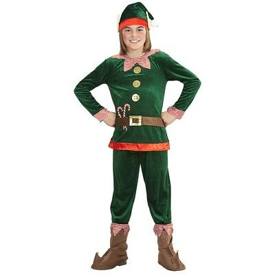 KINDER ELFEN KOSTÜM Weihnachtsmann Santa Nikolaus Kleiner Helfer Helferlein - Santas Kleiner Helfer Kostüm