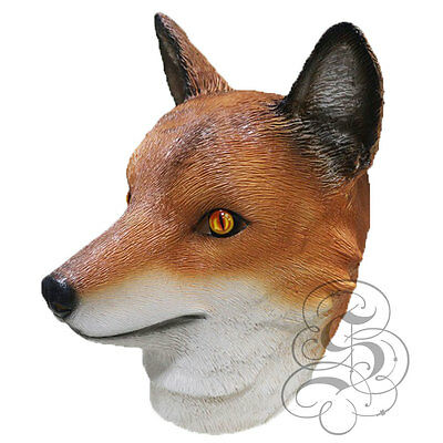 Latex Fox Woodland Kopf Realistisch Party Maske Halloween Junggesellenabschied ()