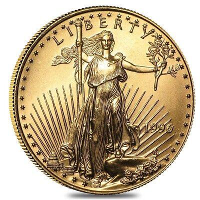 1996 1/2 oz Gold American Eagle BU