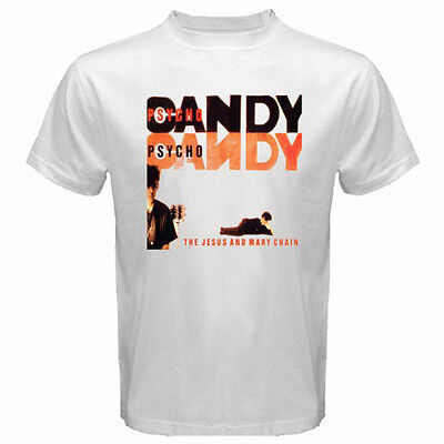 THE JESUS AND MARY CHAIN *Psycho Candy Rock Band Men's White T-Shirt Size - Jesus The Rock