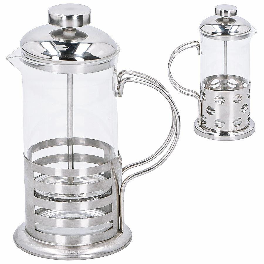 Kaffeebereiter Kaffeezubereiter Glas Kaffeepresse Kaffeekanne Filter Edelstahl