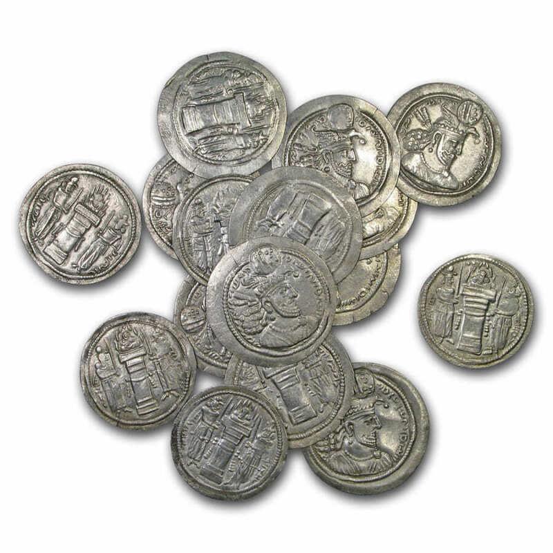 Sassanian Empire Silver Drachm Ohrmazd II (303-309 AD) XF - SKU#201425