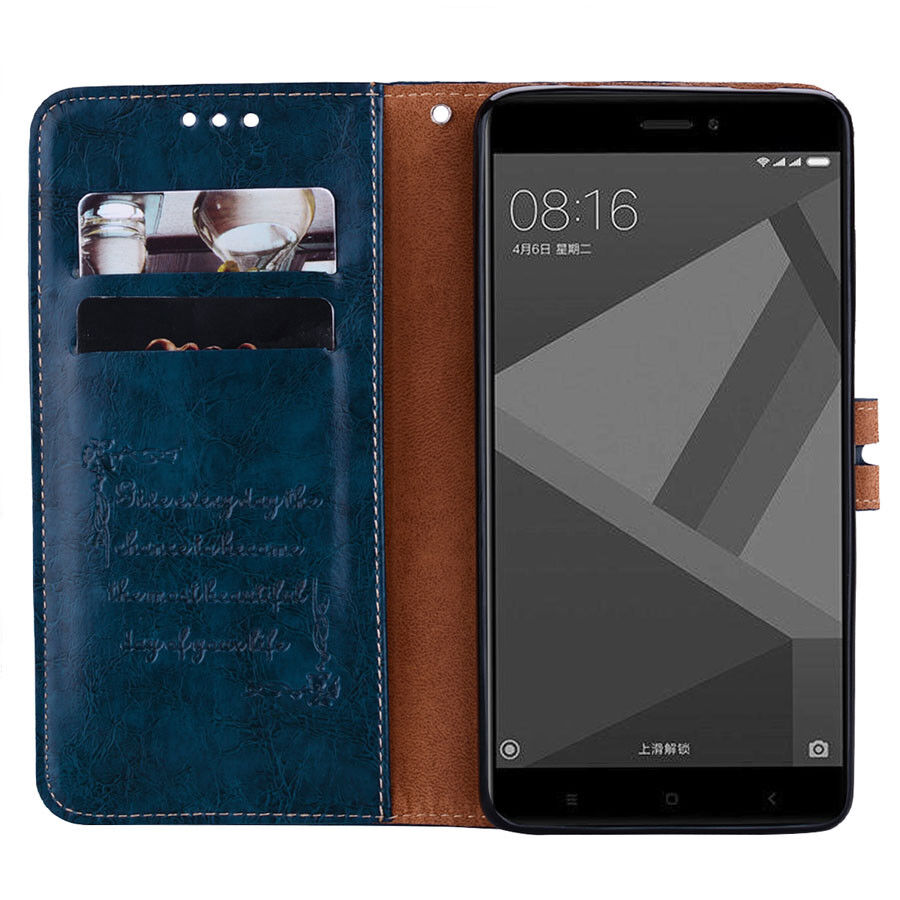 For Xiaomi Redmi 4X Note 4X Luxury Flip Leather Magnetic Wallet Card Case Cover