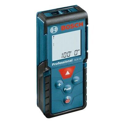 Bosch 100-ft Glm 30 Indoor Laser Distance Measurer With Backlit Display New