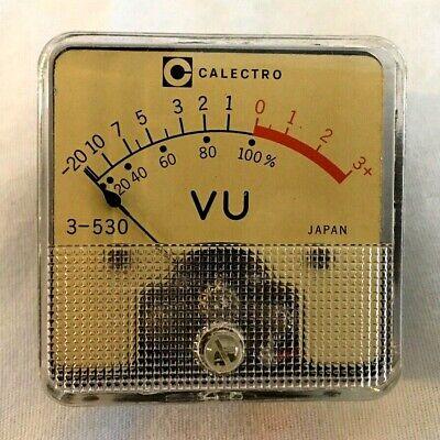 Vintage Calectro Vu Audio Professorial Meter 2 X 2 Tube Amp Tested - Japan