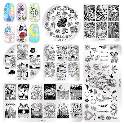 UR SUGAR Halloween Rose Nail Stamping Plates Printing Polish Dreamcatcher DIY](Diy Halloween Nails)