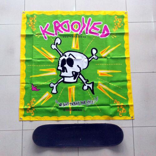 """Krooked Skateboards Gonz Skull 41"""" Huge Banner NEW Mark Gonzales RARE SEALED"""