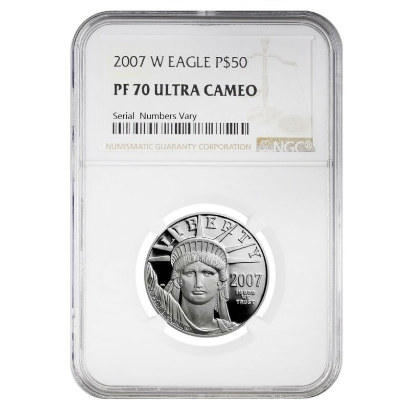 2007 W 1/2 oz $50 Platinum American Eagle Proof Coin NGC PF 70 UCAM