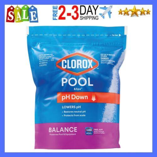 Clorox Pool&Spa pH Down for Reducing pH Levels in Swimming Pools, 5 lb Bag, NEW