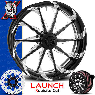 Xtreme Machine Launch Xquisite Cut Motorcycle Wheel Harley Touring Baggers 21 PM