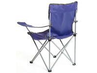 4 (FOUR) Eurohike Blue Folding Chair Drink Holder Camping Fishing Carry Bag EX-Display