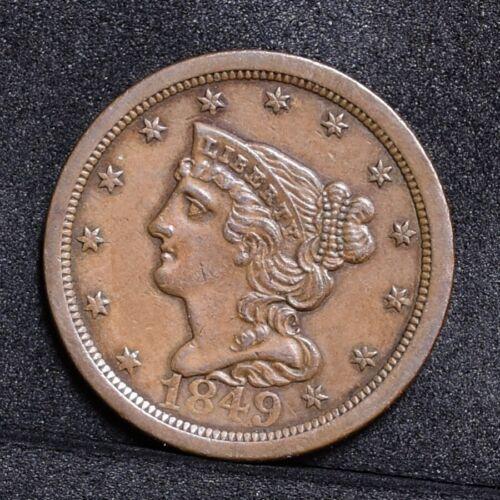 1849 Half Cent - AU (#31568)