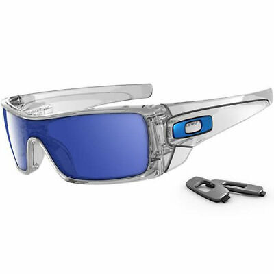 NEW OAKLEY - Batwolf - Sunglasses, Polished Clear / Ice Iridium, OO9101-07