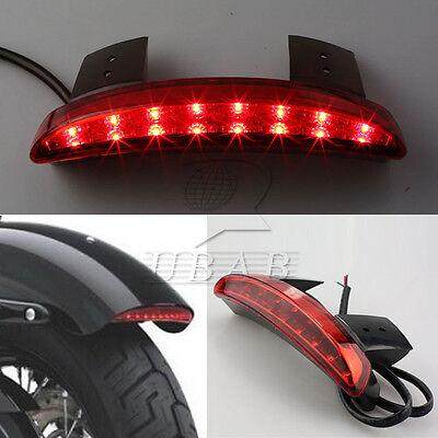 Red Chopped Fender Edge Led Tail Light For Harley Davidson