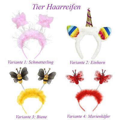 EINHORN SCHMETTERLING BIENE MARIENKÄFER HAARREIF Karneval Kostüm Zubehör # H16