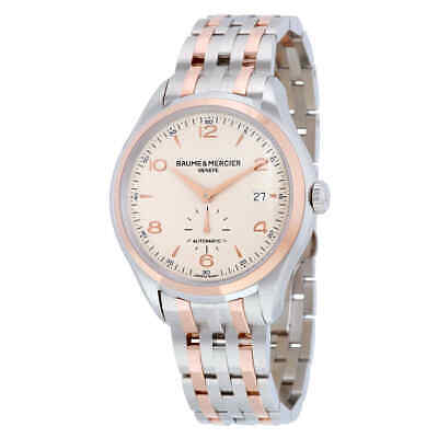 Baume and Mercier Clifton Automatic Silver Dial Twotone Mens Watch 10140