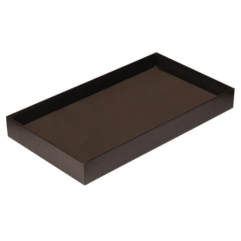 """1"""" HIGH WOODEN JEWELRY TRAY LEATHERETTE COVERED DISPLAY TRAY WOODEN TRAY <DEAL>"""