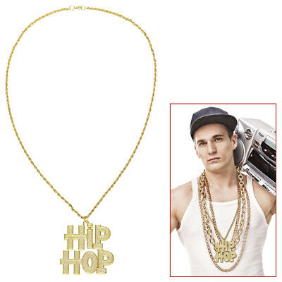 HIP-HOP METALL KETTE # Karneval Rapper Gangster Gold Zuhälter Kostüm Party 75714