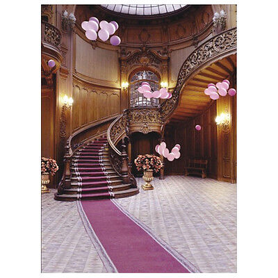Indoor Staircase Carpet Vinyl Photography Backdrop Photo Background 5X7FT ED