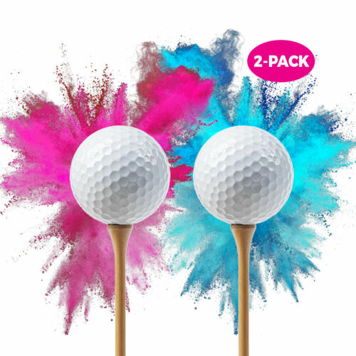Baby Gender Reveal Exploding Golf Balls 2-pack Pink Ball Blue Ball Party Supply