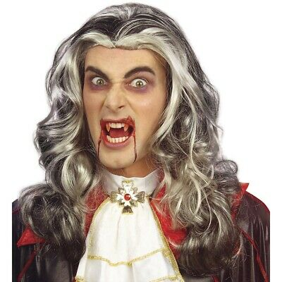 VAMPIR PERÜCKE Erwachsene Halloween Party Karneval Fasching Dracula - Karneval Erwachsenen Perücke