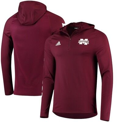 Mississippi State Bulldogs Adidas NCAA Men's Sideline 1/4 Zip Training - Mississippi State Bulldog
