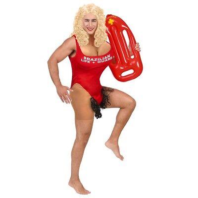 HERREN RETTUNGSSCHWIMMERIN KOSTÜM Bademeisterin Hawaii Strand Lifeguard Gag - Lifeguard Kostüm Herren