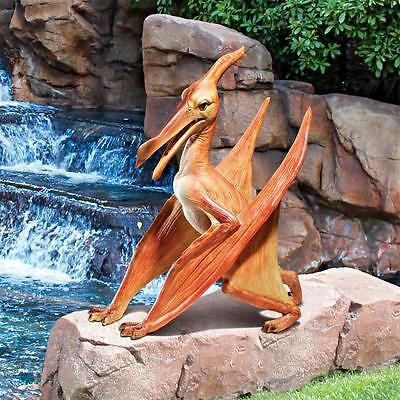 Pterodactyl Dinosaur Flying Reptile Prehistoric Jurassic Scaled Replica Statue